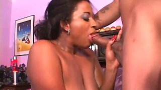 Horny brutal hubby fucks his appetizing ebony sex doll Phoenix in various poses tough