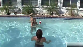 Lovely Girls Relax In The Pool