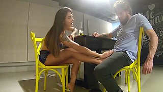 horny brunette fucking on first tinder date - Ana Rothbard