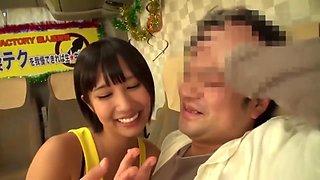 Cute 18yo Schoolgirl Japanese Tomboy Gives Random Guy Handjob And Blowing Cock - Asian