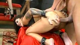 Tattooed girls have rough group sex