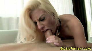 Buttfucked beauty blowing cock ass to mouth