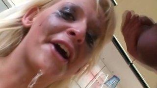 Dutch Blonde Blowjob Abuse deep  roughly