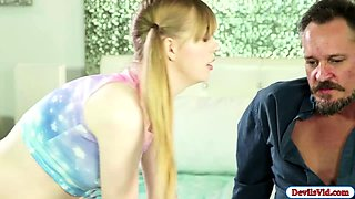 Hot babysitter Dolly fucked by her boss