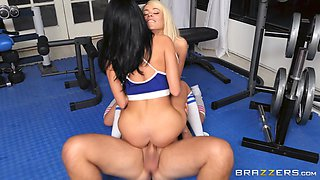 Luna Star and Victoria June are interested about a fellow's big cock