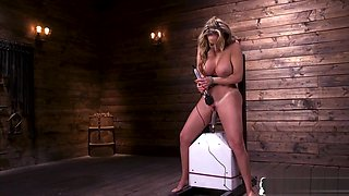 Machine Loving Milf Shows Off Her Huge Tits