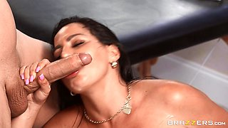 Julianna Vega gets her oiled pussy banged by hard masseur's penis