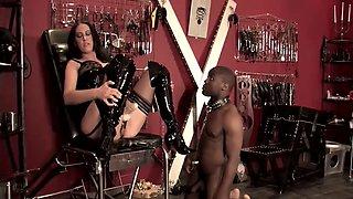 mistress trains her slave