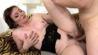 Horny housewife Jara doing her toyboy