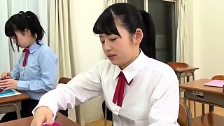 Sweet Japanese schoolgirl learns a lesson in hardcore sex