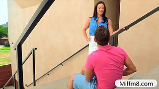 Piano teacher Kendra Lust hot threesome with her student