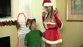 Midget's Erection's Given Some Helping Concern By Busty Babe