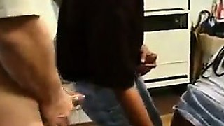 Ebony Midget In A Gang Bang