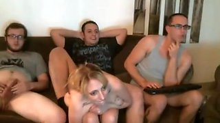 Amateur bisexual webcam foursome