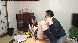 HORNY japanese teen fucked at dinner