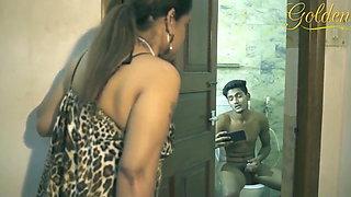 Desi Aunty fuck nephew in the bathroom