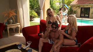 Tasha Reign & Leya Falcon please a cock of a mafioso
