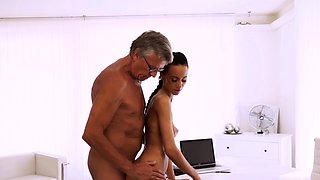 Old foot and stroke it for me daddy Finally she's got her