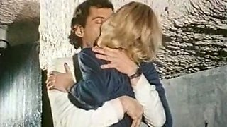 Skinny German blondie on the couch blows dick in 69 style position