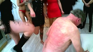 slaves get kicked by german femdom house party
