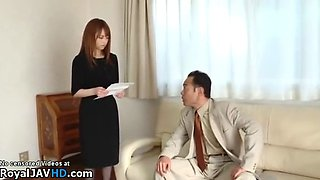 Jav beautiful wife gets smashed by husbands boss