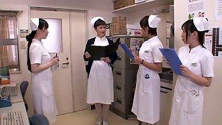 Horny Japanese girl in Fabulous Nurse, Handjob JAV scene
