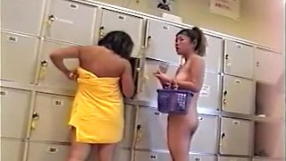 Naked butts in the locker room