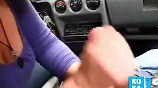 car handjob amateur hot 1