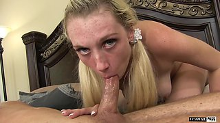 Roxy Nicole is a naughty blonde willing to do anything for a shag