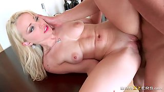 staci carr gets fucked on the table while her drunk boyfriend is sleeping