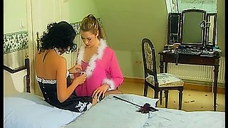 Classic porn with lovely maids licking each other