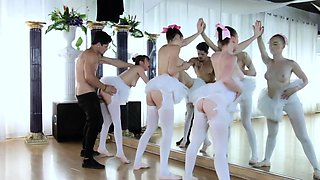 Spanking crony and orgy party first time Ballerinas
