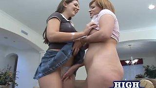 Alicia and Michelle Christian get to ride a massive black dick