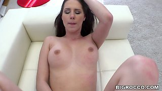Gia Mulino plays with Rocco's big dick