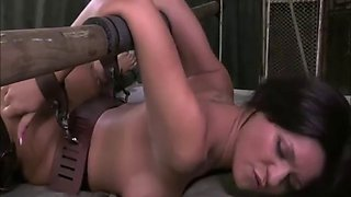 Slave used and abused in bondage