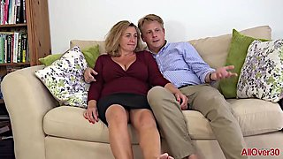 Camilla A is a blonde plumper who seems to like her handsome neighbor's cock
