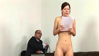 Lazy secretary punished and humiliated