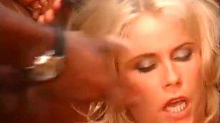 Perfect blonde banged during bukkake orgy