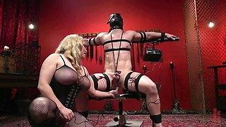 Cock riding by chesty MILF becomes the best reward for a slave