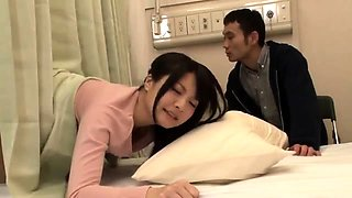 Lustful Asian wife made to cum hard in the doctor's office