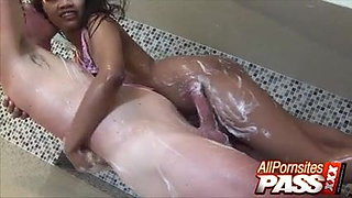 Thai With Feet Fetish Suwanna – Shower And Hot Tub Sex