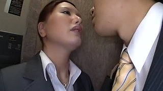 Hottest Japanese whore in Horny Secretary, Stockings/Pansuto JAV video