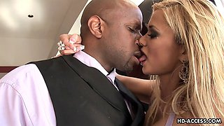 Milf Shyla pussy licked then pounded hardcore in interracial porn