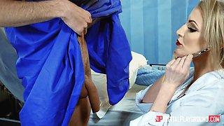 Wild doctor seduces her patient and gives tremendous deepthroat BJ