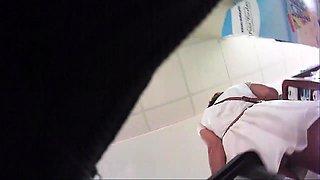 Sexy amateur babes expose their tight panties on hidden cam