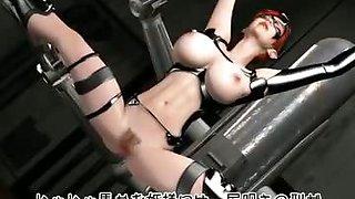 Bondage tits fucked with massive cock