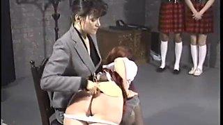 Girls school spanking part 1
