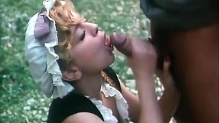Blonde Farm Girl Takes It In Every Hole Outdoors