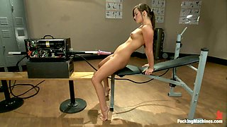 Lily Carter gets her pussy and ass pounded by a cute fucking machine