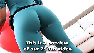 Huge Ass Latina Exposing Cameltoe in Tight Spanex Bodysuit